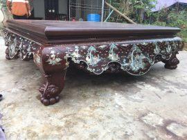 Sập trơn 1m8x2m2 khảm tam diện gỗ gụ mật siêu bền (Anh Giang, Hưng Yên)