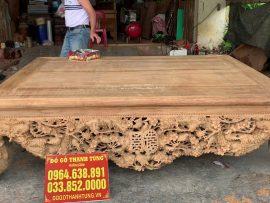 Sập thập điểu quần mai gỗ gụ hàng đục tay đẳng cấp (Anh Hiếu, Bắc Ninh)