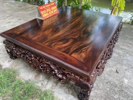 Siêu phẩm sập mai điểu 1m8x2m2 gỗ hương vân Campuchia cực đẹp