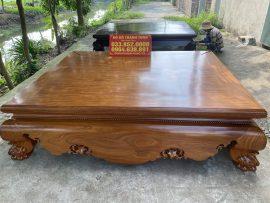 Sập trơn tam diện 1m8x2m2 gỗ cẩm vàng hàng vip siêu vân