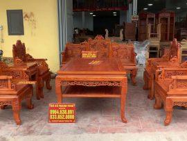 Bộ trường kỷ Huế đục tích Bát Tiên gỗ Hương đá (Chú Hùng, Hồ Chí Minh)
